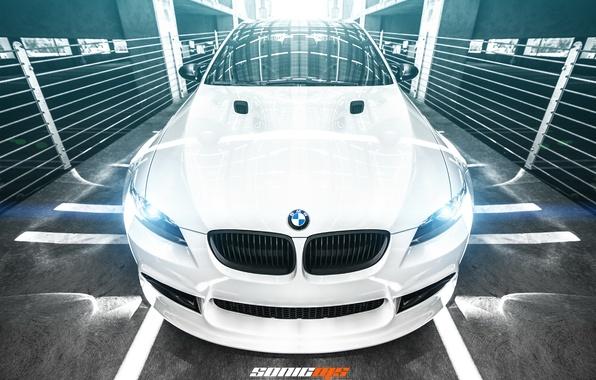 Picture car, BMW, white, bmw m3