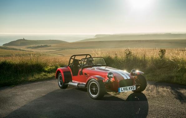 Picture auto, the sun, light, light, red, sportcar, Seven, sun, Caterham, 310R