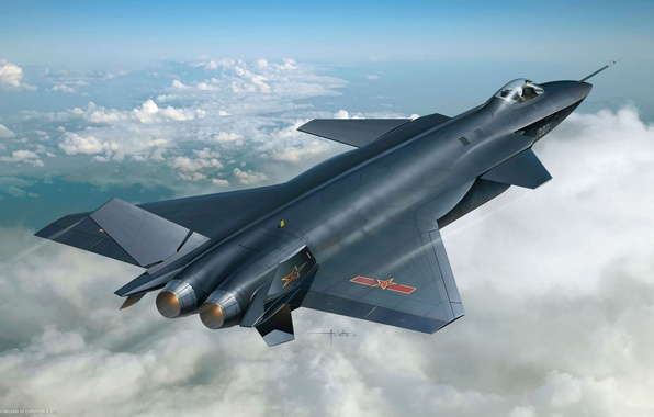 Picture aviation, the plane, fighter, BBC, Chinese, j-20