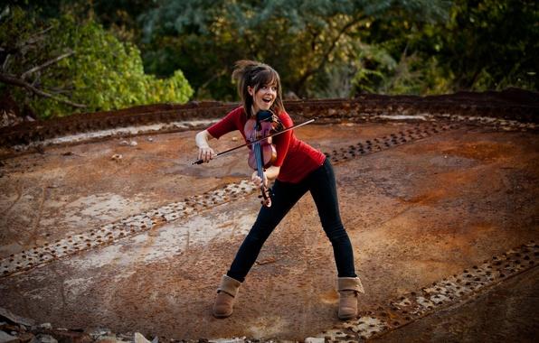 Picture violin, beauty, violin, Lindsey Stirling, Lindsey Stirling, violinist