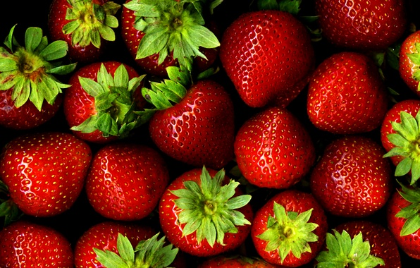 Picture strawberry, berry, red