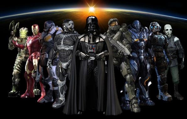 Picture Star Wars, Crysis, Darth Vader, Halo, Space, Half Life, Hunter, Dead Space, Gears of War, …