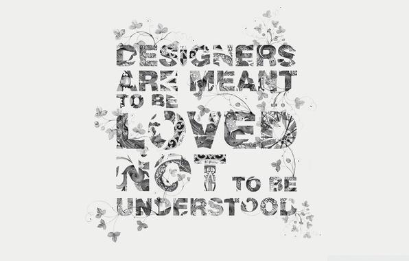 Picture design, letters, creative, minimalism, words, words, patterns design