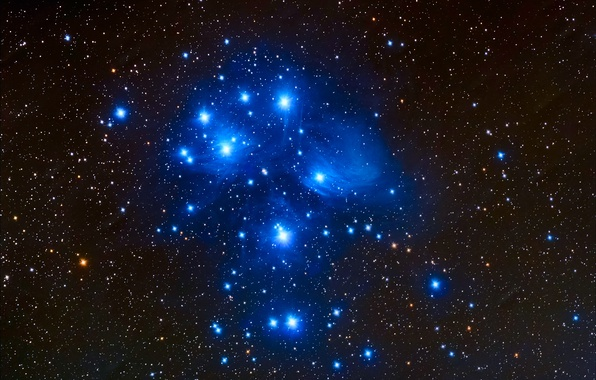 Picture space, stars, constellation, the Pleiades