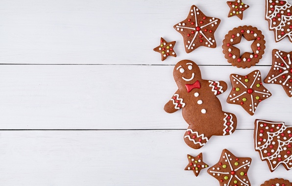 wallpaper new year  cookies  christmas  christmas  cakes