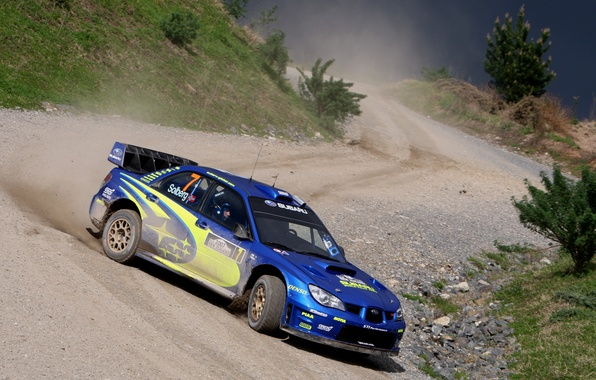 Picture dust, skid, subaru, gravel, new Zealand, rally, rally, wrx, impreza, wrc, sti, 2007, new zealand, …