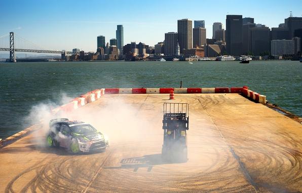 Picture Ford, Auto, The city, Ford, Skid, Drift, Ken Block, Rally, Fiesta, Fiesta, rallycross