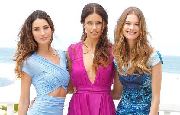 Picture sexy, background, girls, Adriana Lima, Adriana Lima, sexy, model, beauty, dresses, Victoria's Secret Angels, Behati …