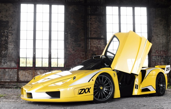 Picture light, the building, Windows, the door, Ferrari, Ferrari Enzo, Enzo, Edo Competition