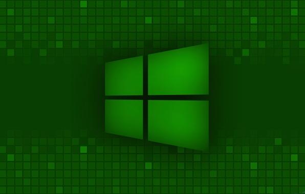 Picture green, logo, microsoft, windows 8