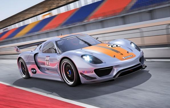 Picture Concept, speed, track, Porsche, Porsche, 918, RSR