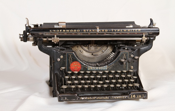 Picture retro, machine, vintage, retro, vintage, old, printed, old, Underwood, typewriter