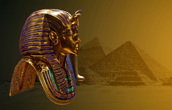Picture MASK, SAND, EGYPT, DESERT, PYRAMID, TOMB, RULER, CHARACTERS, PHARAOH