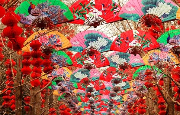 Photo Wallpaper Trees Fan China Lanterns Beijing Temple Of Heaven