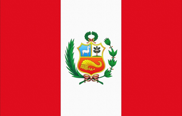 Picture Red, White, Flag, Coat of arms, Photoshop, Peru, Peru