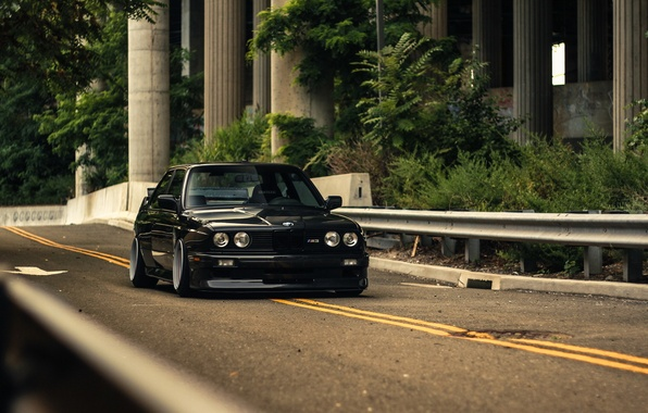 Picture BMW, Black, Coupe, E30