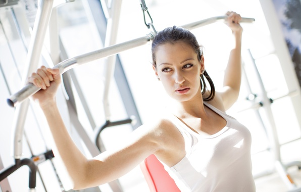Picture woman, workout, gym, physical activity