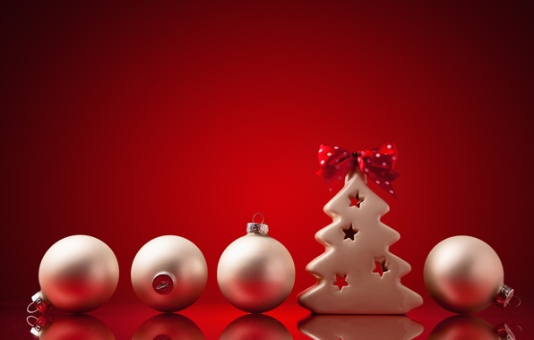 Picture decoration, balls, tree, New Year, Christmas, Christmas, New Year, decoration, Merry