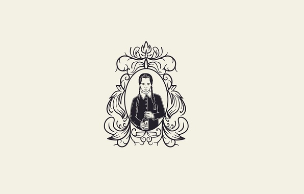 Wallpaper the addams family art mikael lundstr m for Minimal art family