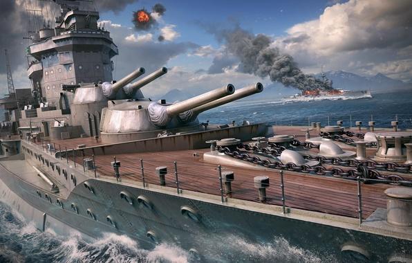 Picture Battleship, Wargaming Net, WoWS, World of Warships, The World Of Ships, Warspite, The EVK Warspite, …