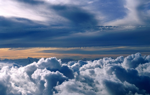Photo wallpaper the sky, clouds, nature, height, the atmosphere