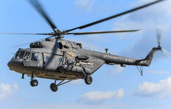 Picture aviation, helicopter, blades, Mi-8AMT