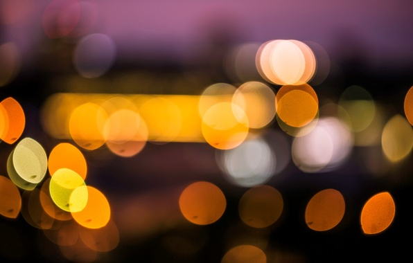 Picture macro, the city, lights, background, Wallpaper, blur, wallpaper, widescreen, background, macro, bokeh, bokeh, full screen, …