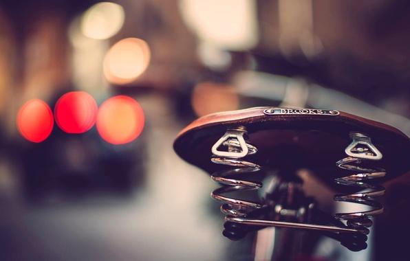 Picture macro, bike, lights, saddle, bokeh, seat