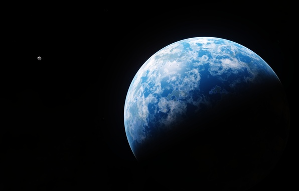 Picture space, surface, planet, satellite
