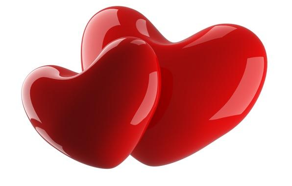 Photo wallpaper love, red, heart, symbol