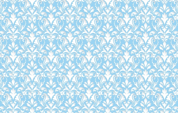 Picture blue, pattern