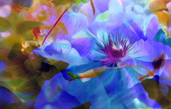 Picture flower, nature, rendering, figure, plant, vector, petals