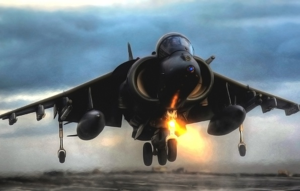 Picture The evening, The plane, Fighter, Wings, Aviation, BBC, Harrier, Bomber, The rise, Harrier, GR Mk-7
