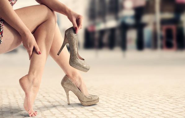 Picture legs, comfort, heels
