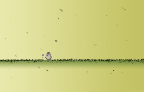Picture grass, animal, microphone, is, totoro, thick, Totoro, freak