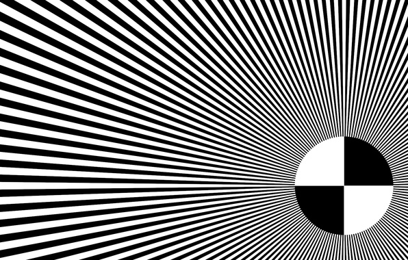 Picture rays, abstraction, white, black, round, hallucination, illusion