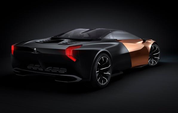 Picture car, Concept, Peugeot, black, Onyx
