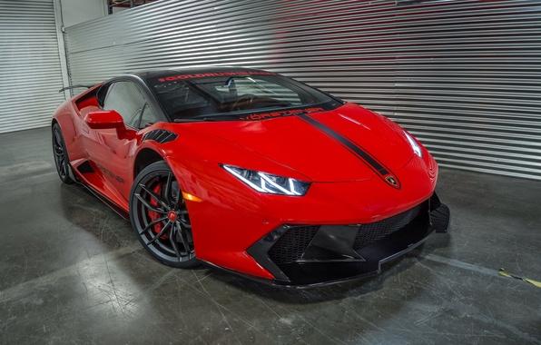 Picture car, auto, tuning, Lamborghini, red, Vorsteiner, tuning, Huracan, Novara