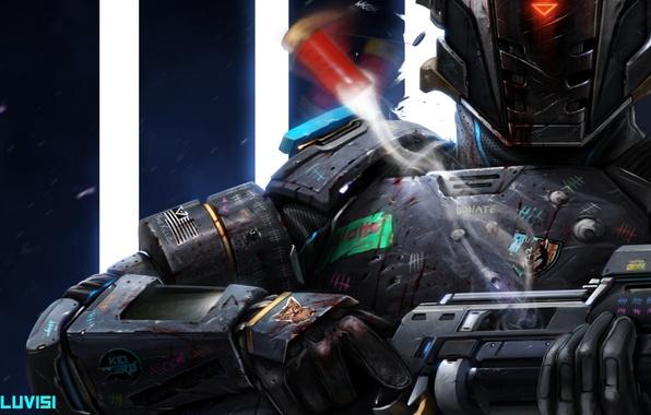 Picture labels, weapons, fiction, art, helmet, armor, sci fi