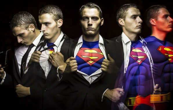 Picture light, painting, Superman