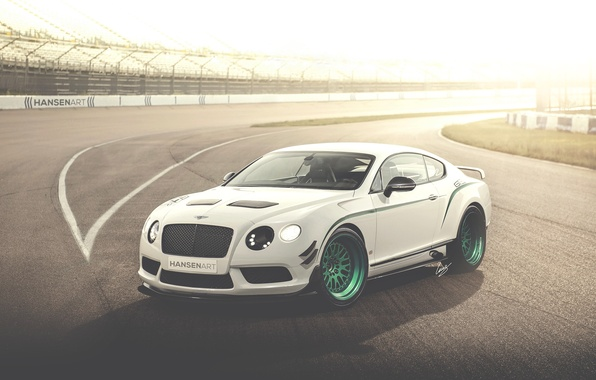 Picture white, Bentley, Continental, art, white, art, Bentley, continental, race car, GT3-R, HansenART, Hansen Type, by …