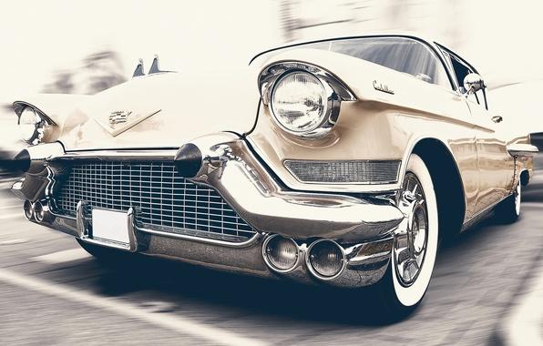 Picture auto, retro, car, classic, Cadillac, Oldtimer