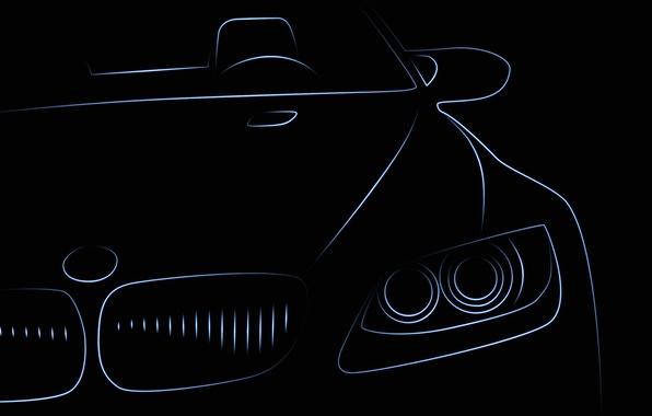 Picture machine, BMW, silhouette, car