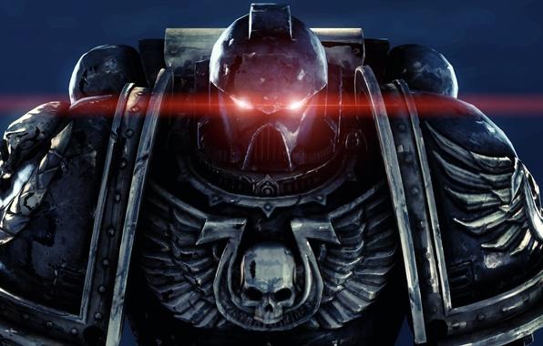 Picture eyes, red, skull, wings, armor, helmet, armor, warhammer, space Marines, power, space marines, 40k, ultramarines, …