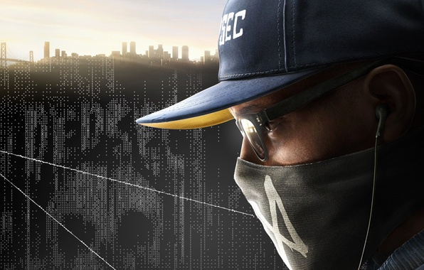 Picture the sky, the city, home, mask, glasses, cap, guy, Ubisoft, hacker, Marcus, Watch Dogs 2, …