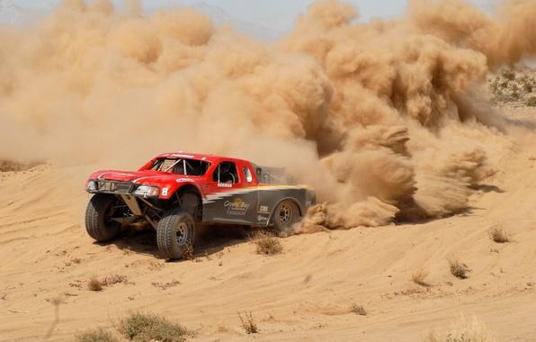Picture desert, dust, Low, Baja 1000, Bach