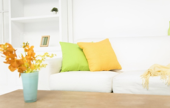 Wallpaper style, pillow, interior, flowers, design images ...