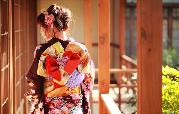 Picture summer, face, style, clothing, kimono, Asian
