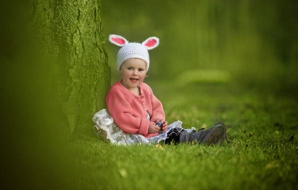 Picture joy, mood, girl, ears, cap