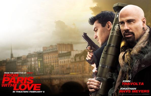 Picture gun, poster, Bazooka, John Travolta, John Travolta, Jonathan Rhys Meyers, Jonathan Rhys Meyers, From Paris …